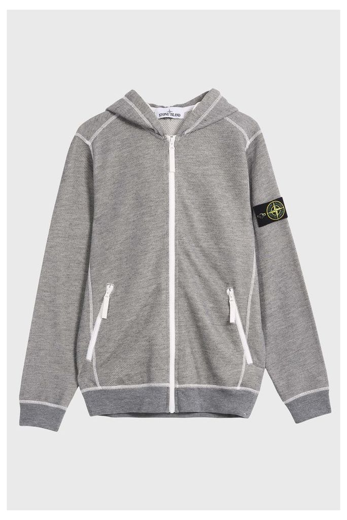 Stone Island Men`s Waffle Hoodie Boutique1