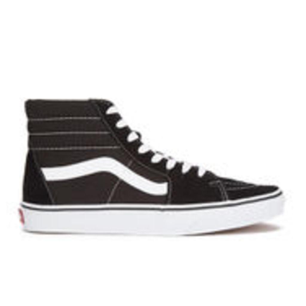 Vans Men's Sk8-Hi Canvas Hi-Top Trainers - Black/White - UK 12