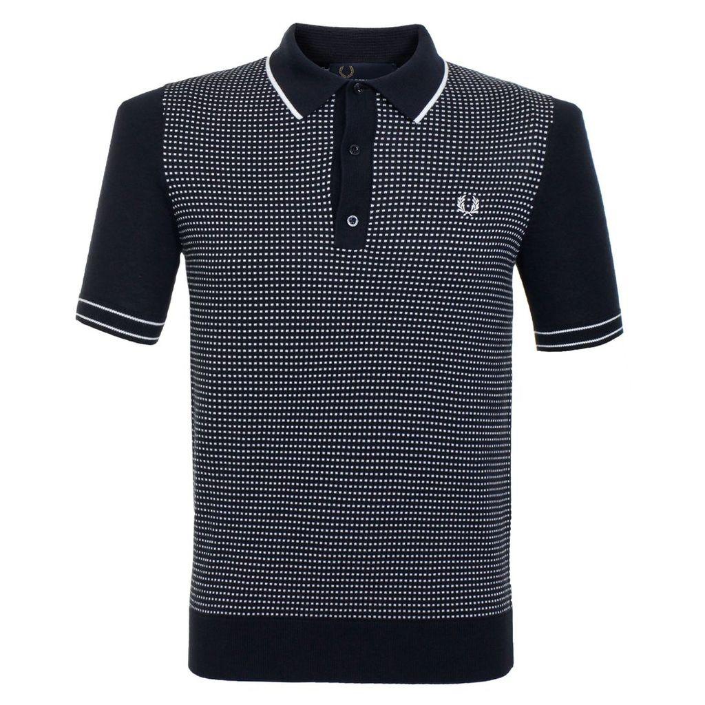 Fred Perry Polka Dot Navy Polo Shirt K1521 608