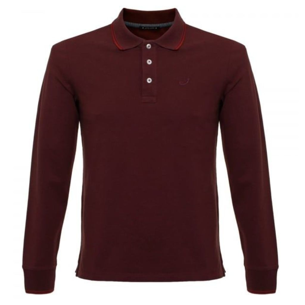 Jacob Cohen J494 Burgundy Polo Shirt