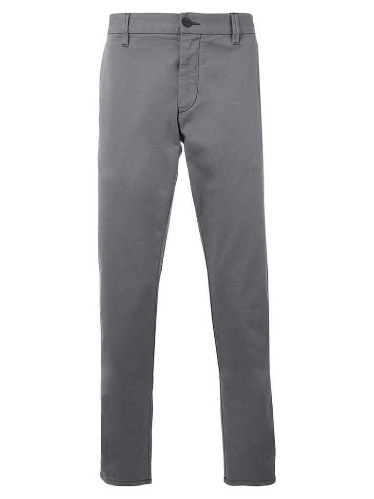 Armani Jeans - classic chinos - men - Cotton/Spandex/Elastane - 54, Grey