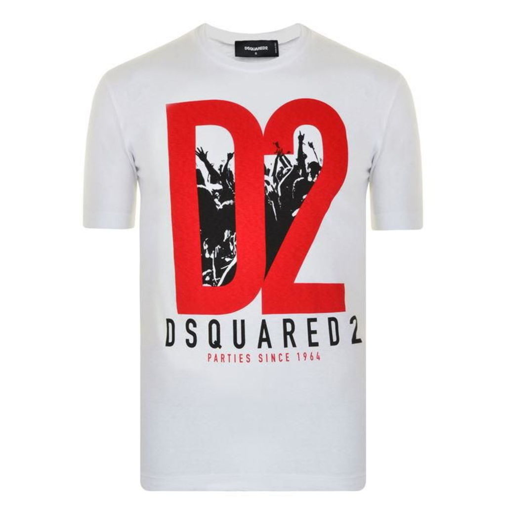 DSQUARED2 Printed Crew Neck T Shirt