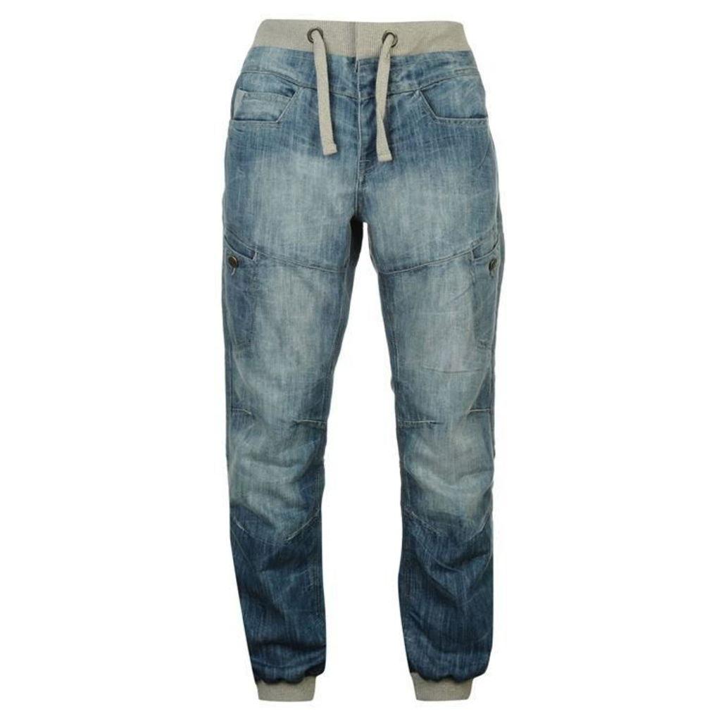 Airwalk Cuffed Jogger Jeans Mens
