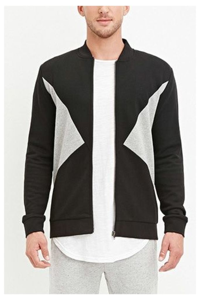 French Terry Colorblocked Jacket