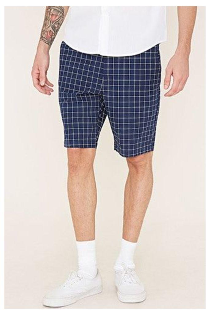 Grid Print Shorts