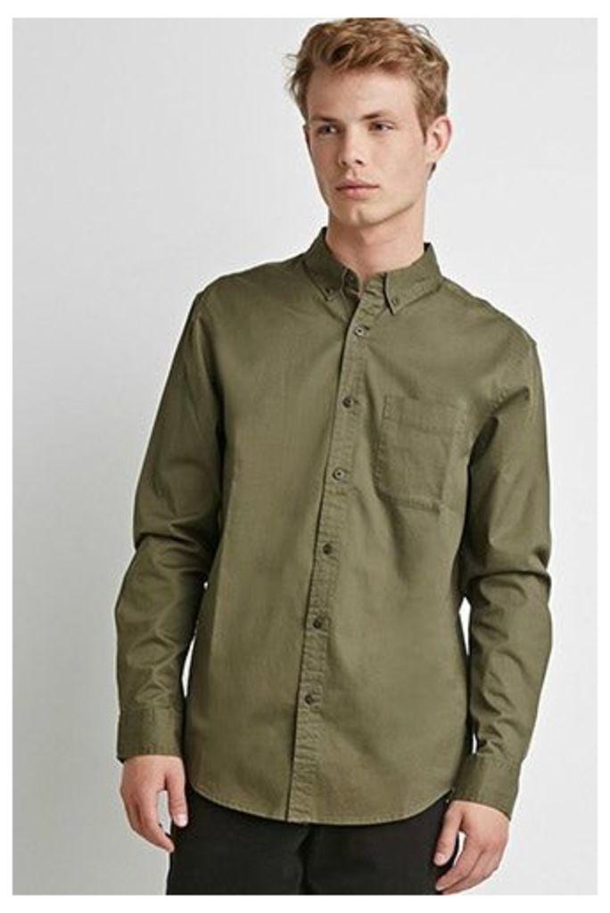 Classic Button-Collar Shirt