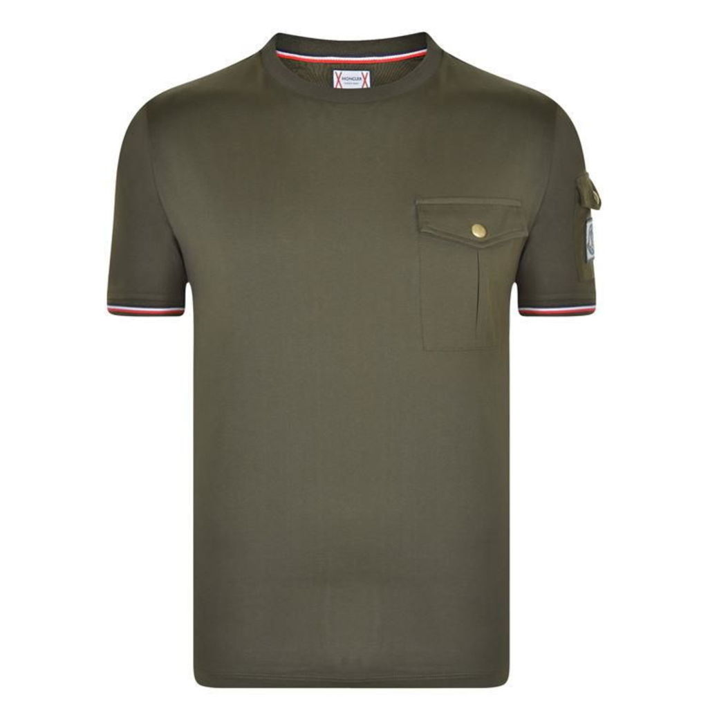 MONCLER GAMME BLEU Trim Sleeve T Shirt