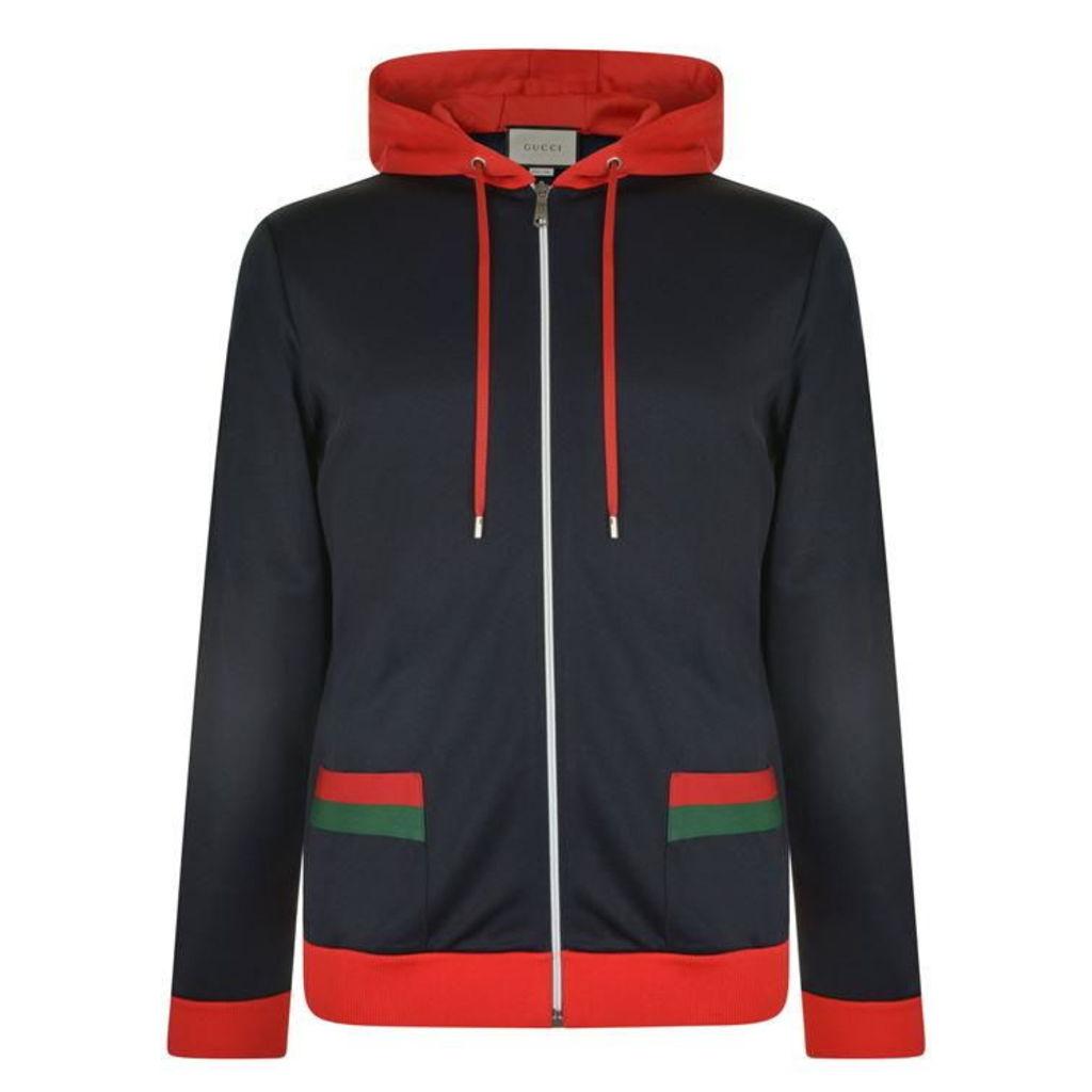 GUCCI Web Trim Hooded Track Jacket