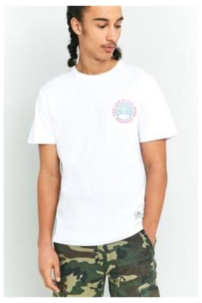 Penfield Emblem White T-shirt, WHITE