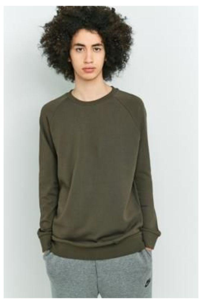 Selected Homme SHXFREE Khaki Crewneck Sweatshirt, KHAKI