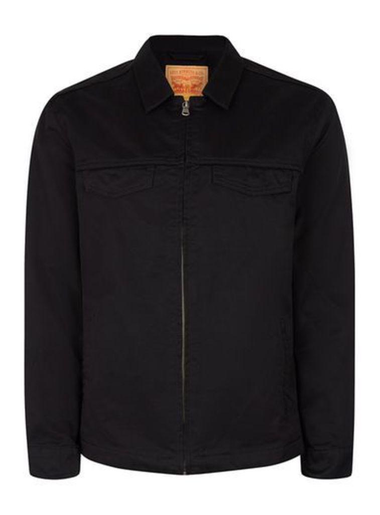 Mens LEVI'S Black Denim Harrington Jacket, Black