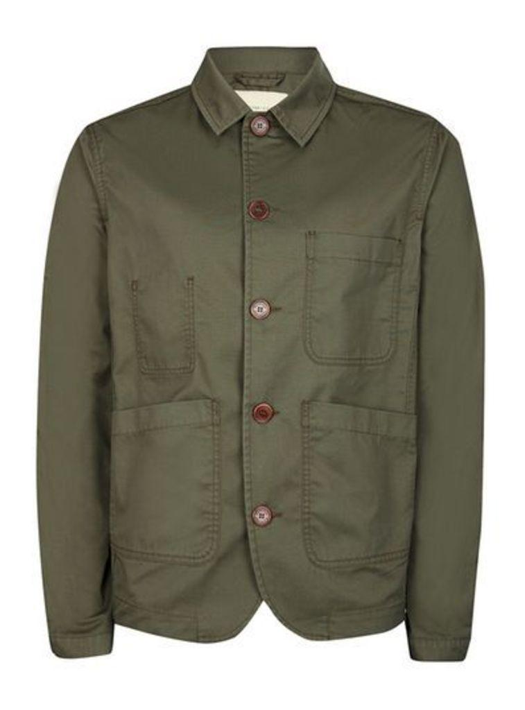 Mens Green SELECTED HOMME Khaki Jacket, Green
