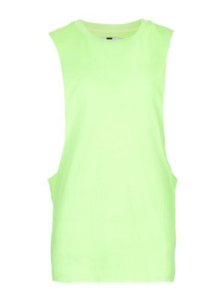 Mens Neon Green Extreme Cut Vest, Green