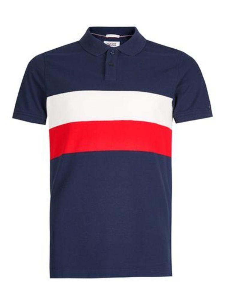 Mens Multi HILFIGER DENIM Flag Logo Polo Shirt, Multi
