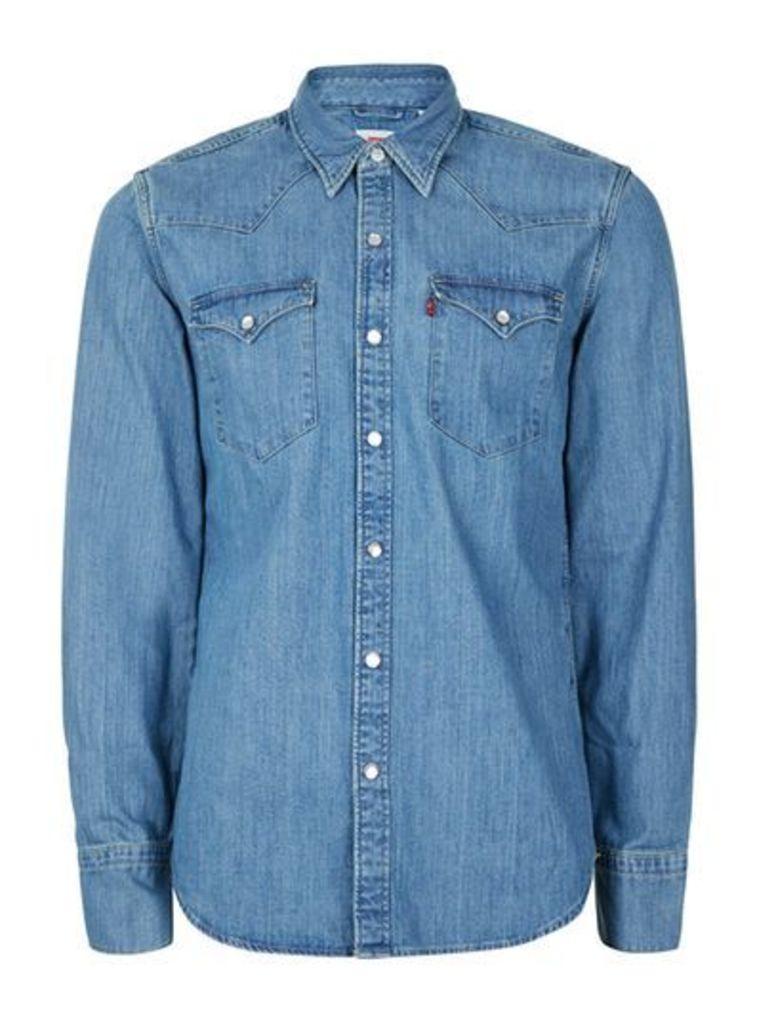 Mens LEVI'S Blue Denim Shirt, Blue