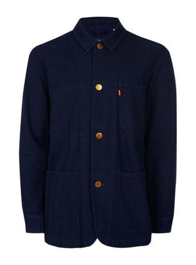 Mens Blue LEVI'S Navy Denim Overshirt, Blue