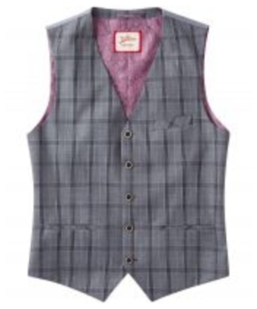Charming Check Suit Waistcoat