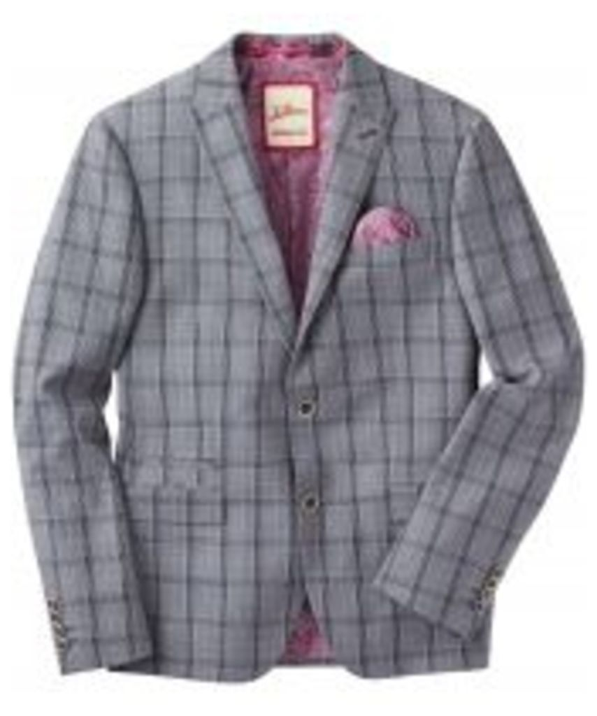 Charming Check Suit Blazer