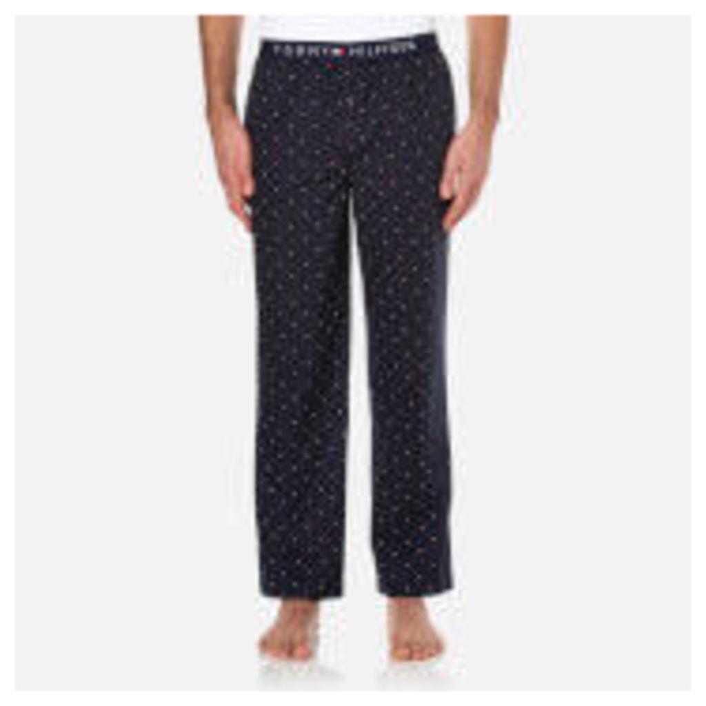 Tommy Hilfiger Men's Icon Woven Mini Flag Pants - Navy Blazer - L