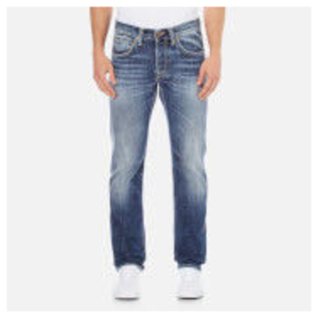 Edwin Men's ED-55 Break Used Relaxed Tapered Jeans - Dark Blue - W30/L32