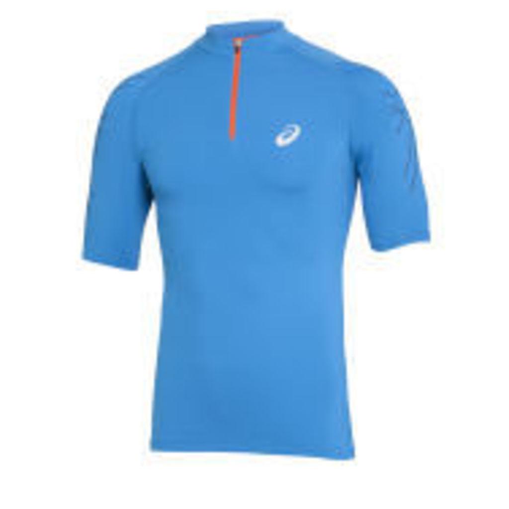 Asics Men's 1/2 Zip Running Top - Atlantic Blue - XL