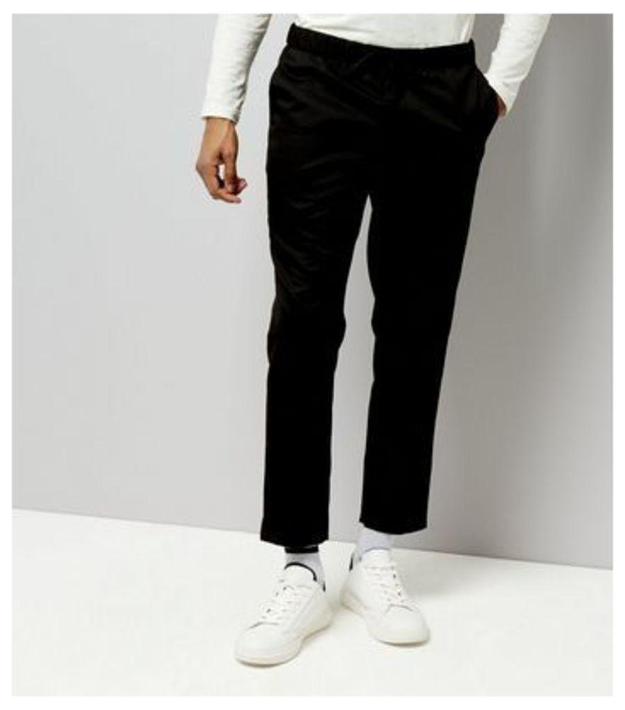 Black Smart Jogger Trousers