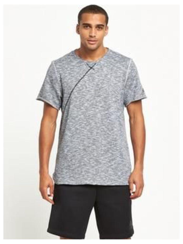 adidas Cross Up T-shirt, Light Grey Heather, Size Xl, Men