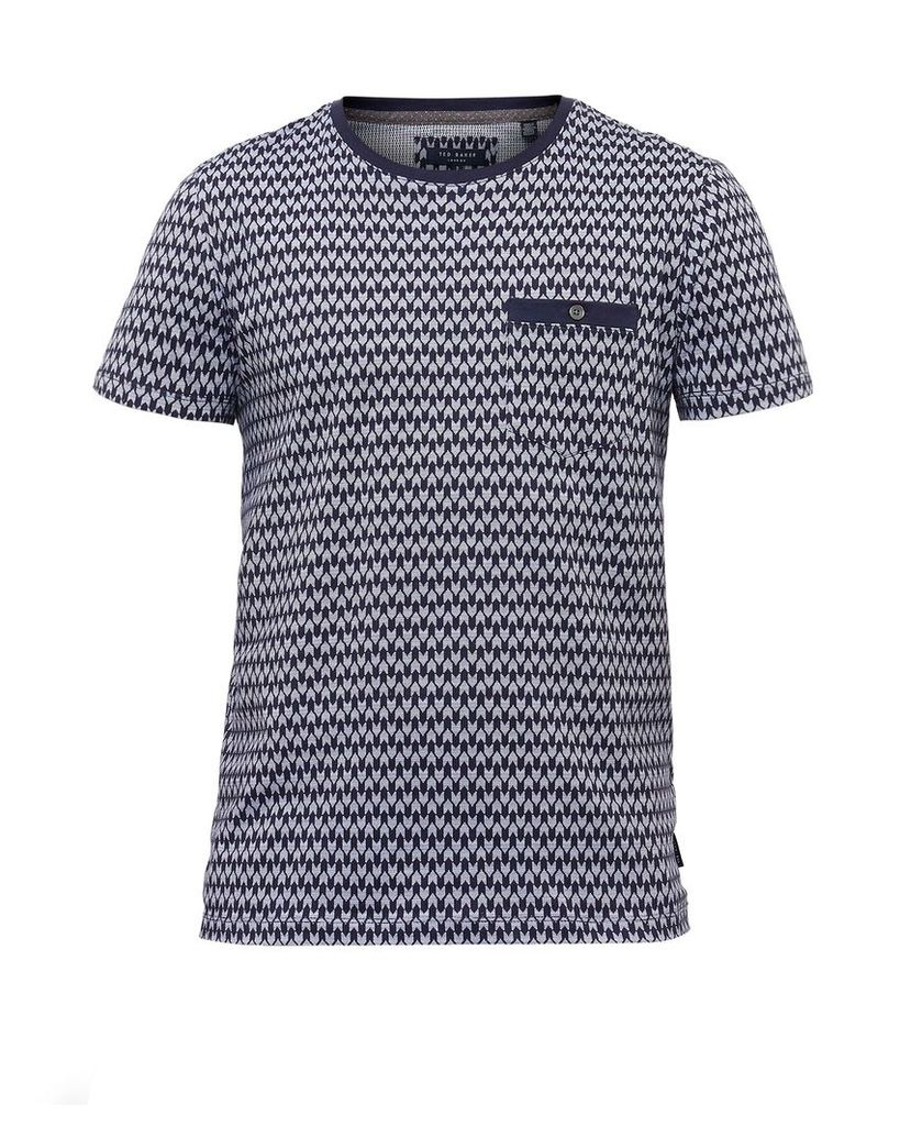 Men's Ted Baker Pasta Geo Print Cotton T-shirt, Navy
