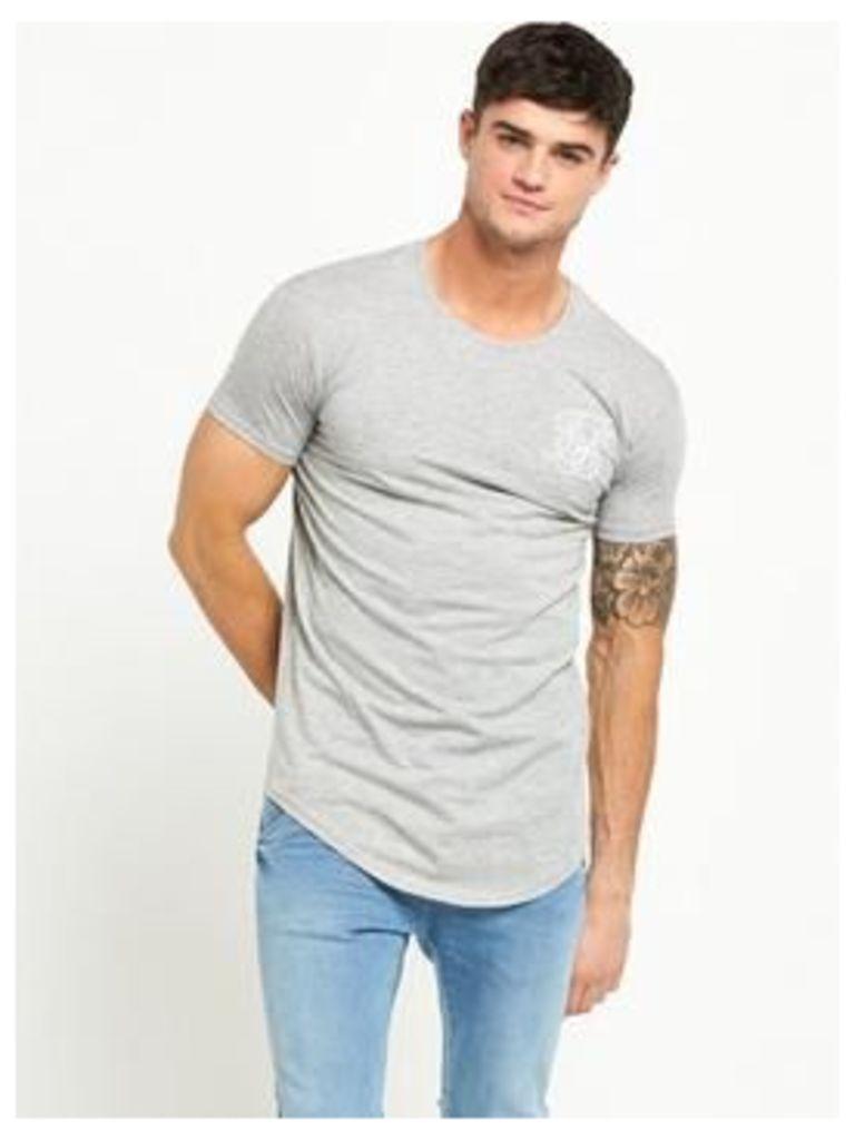Sik Silk Curved Hem Ss Tshirt