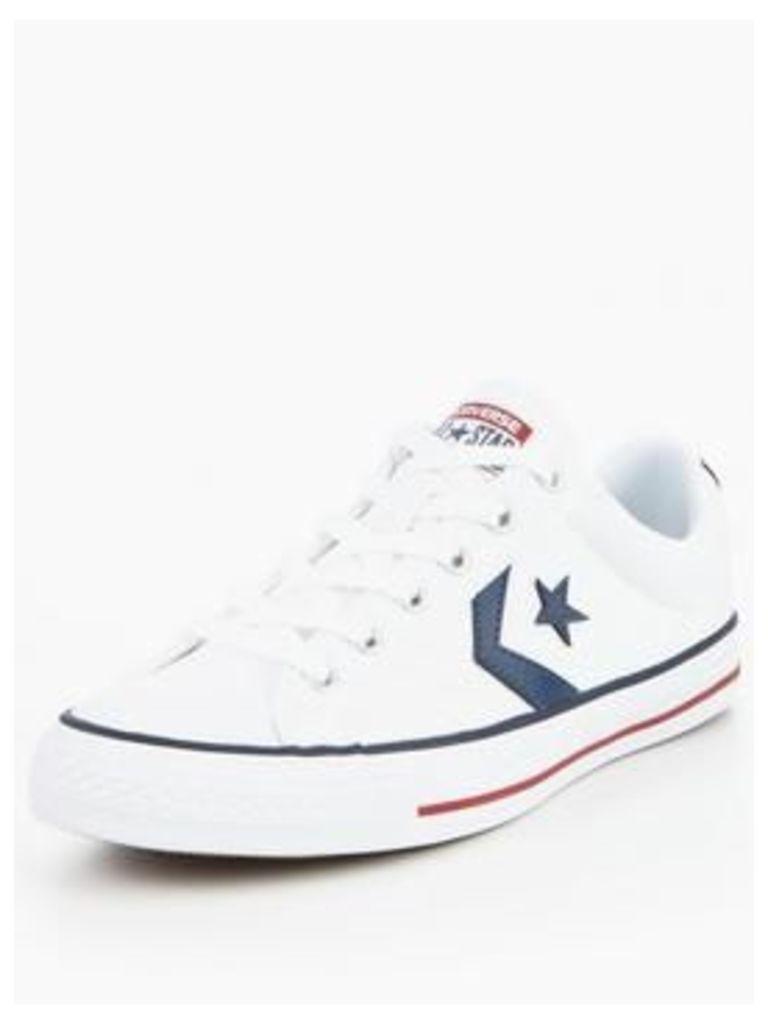 Converse Star Player Ox, White, Size 10, Men