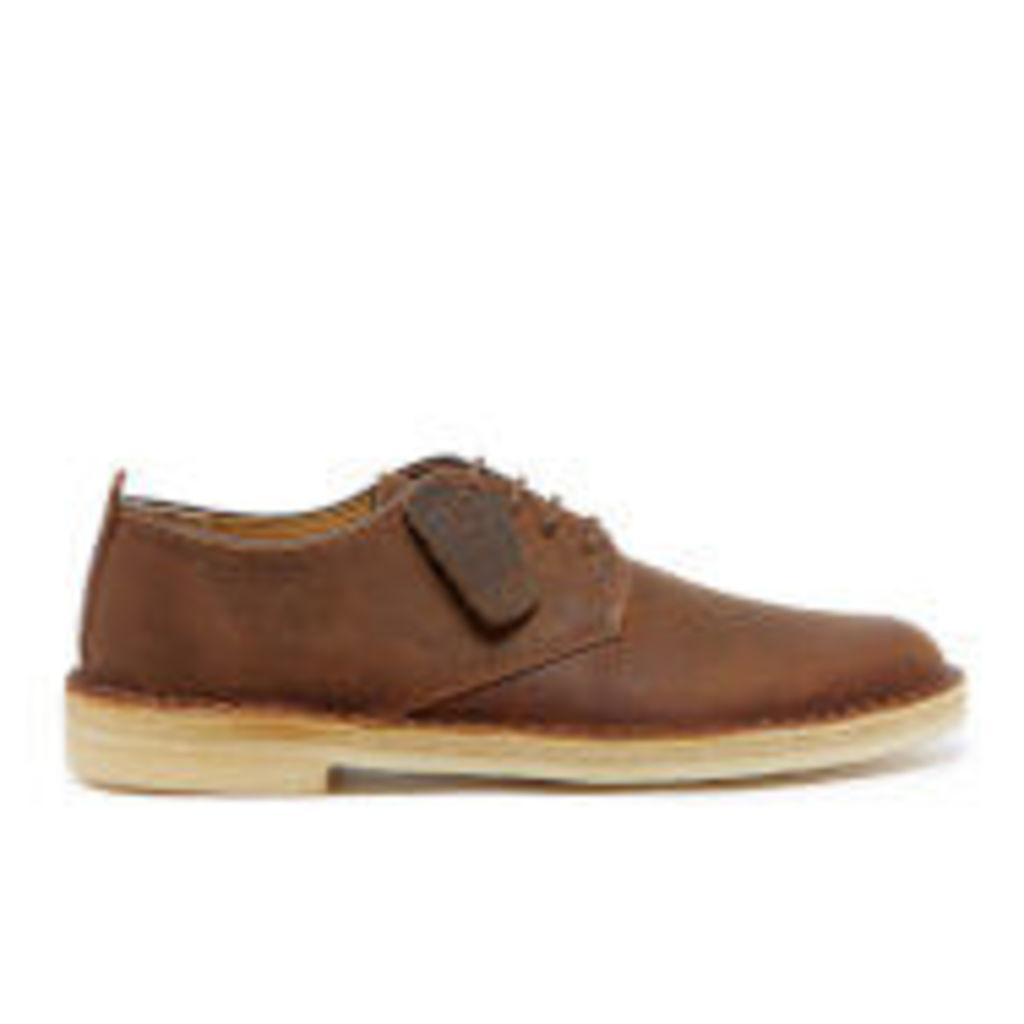 Clarks Originals Men's Desert London Derby Shoes - Beeswax Leather