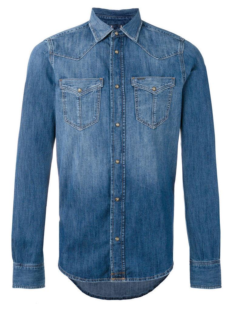 Diesel - 'D'Broome' shirt - men - Cotton - M, Blue