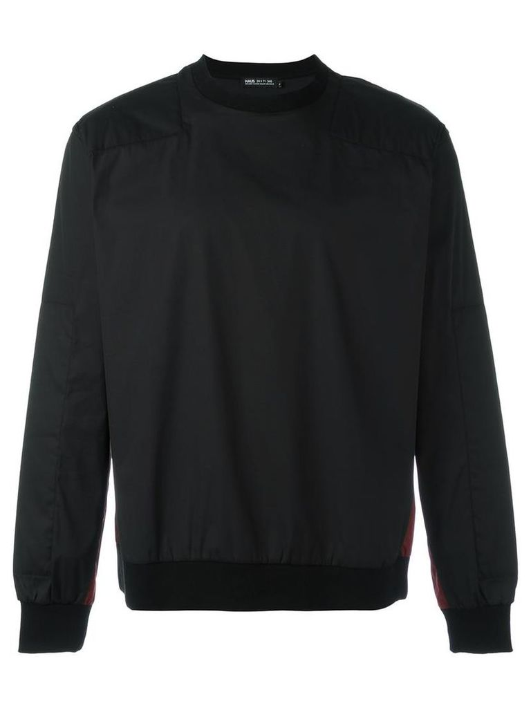 Haus By Ggdb - contrast panel sweatshirt - men - Cotton/Polyamide/Polyester/Spandex/Elastane - S, Black