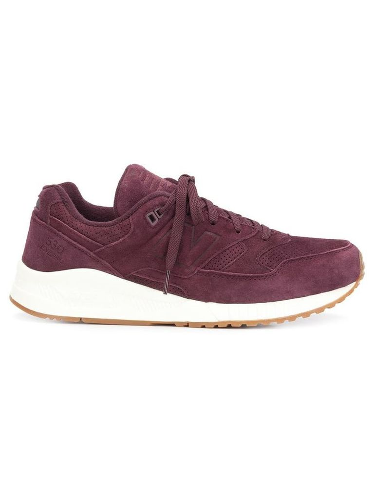 New Balance - chunky sole sneakers - men - Suede/Polyester/rubber - 11, Red