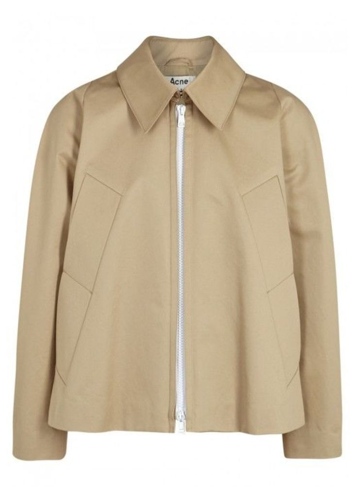 Acne Studios Mia Stone Cotton Jacket - Size 40