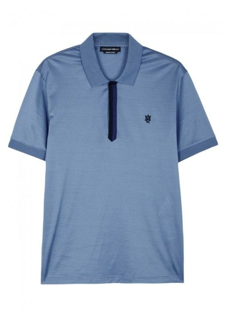 Alexander McQueen Blue Cotton Polo Shirt - Size S
