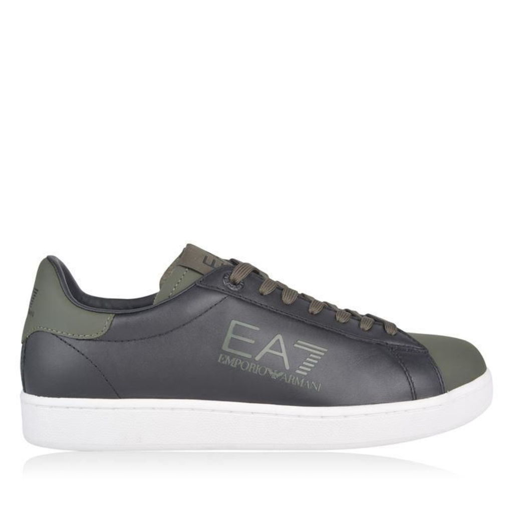 EA7 Two Tone Leather Trainers