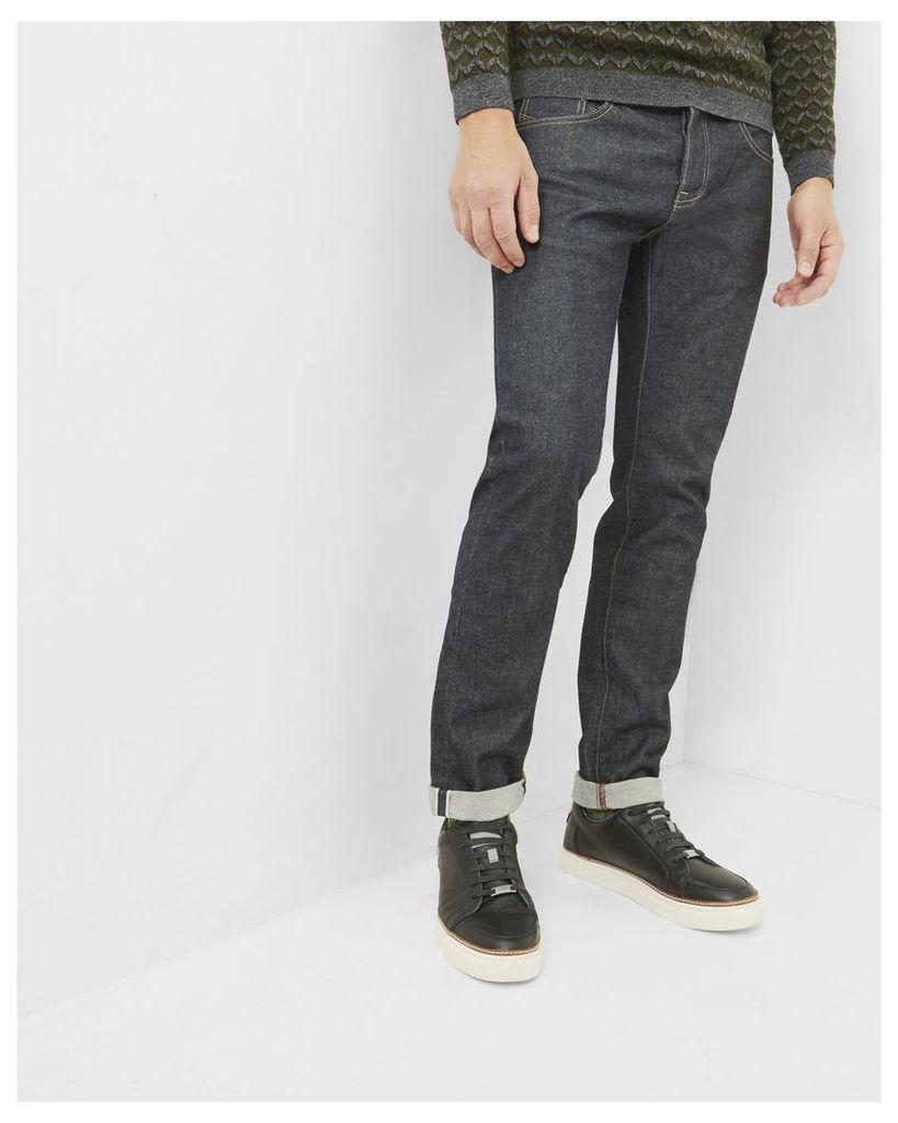 Ted Baker Straight fit selvedge jeans Rinse Denim