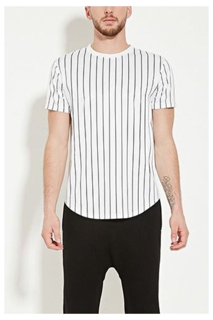 Striped Mesh Top