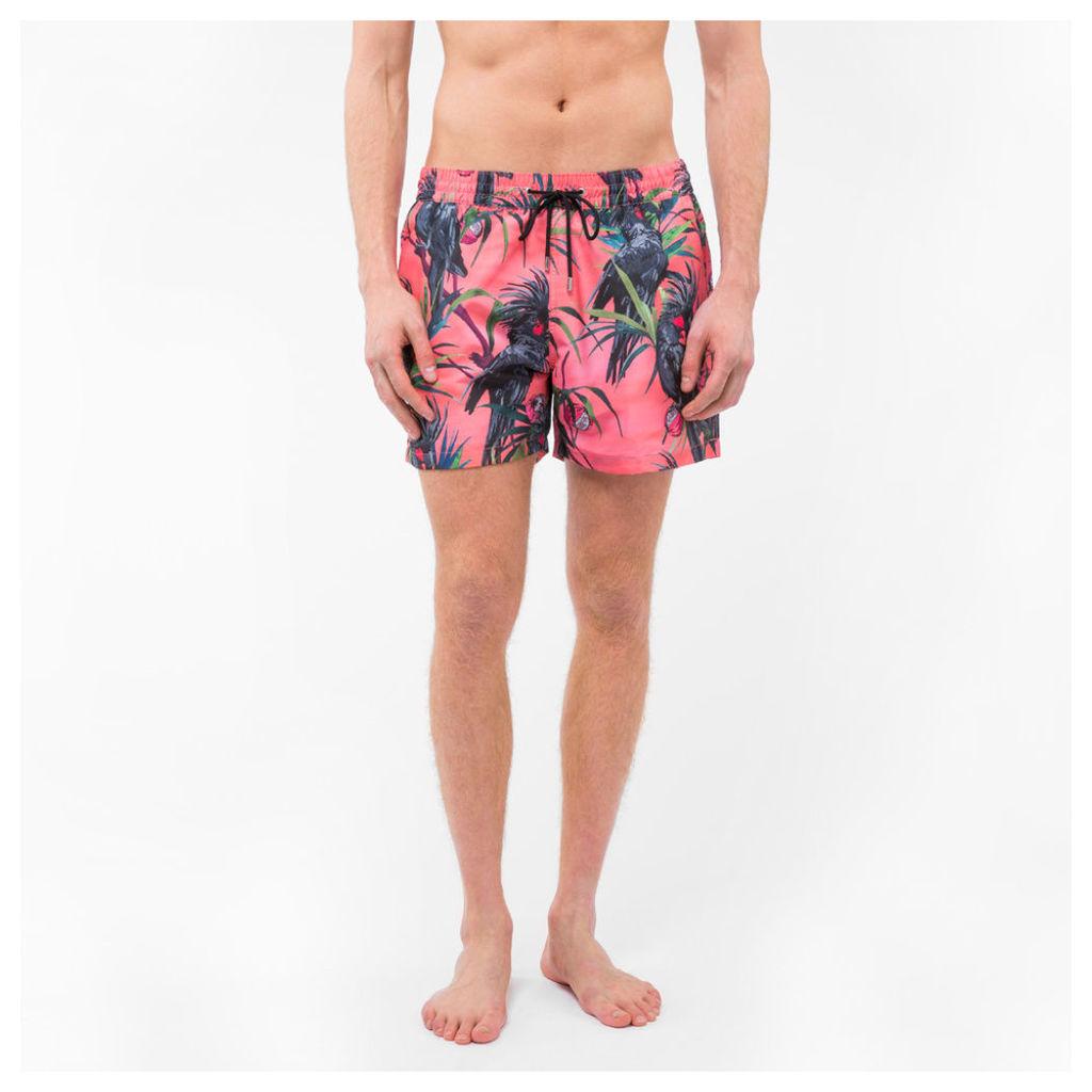 Men's Pink 'Cockatoo' Print Swim Shorts