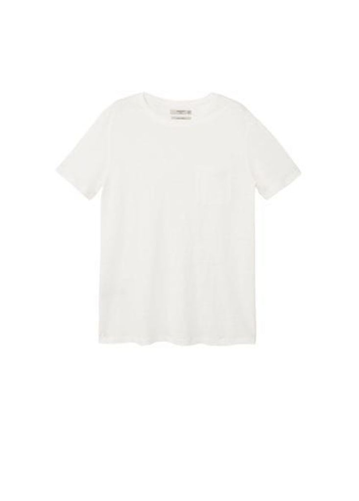 Pocket linen-blend t-shirt