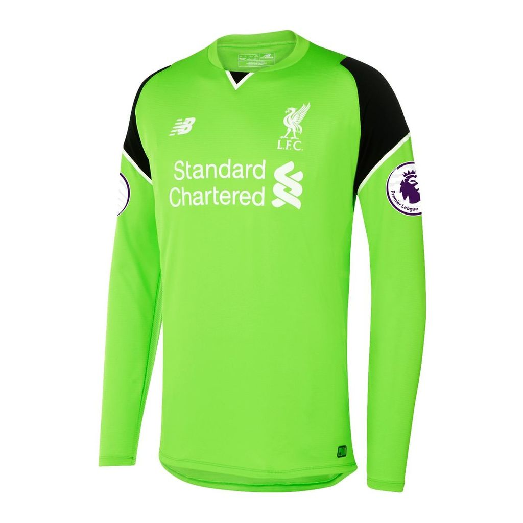 New Balance LFC Mens Mignolet Home EPL Patch GK LS Jersey Men's 2016/17 Players' Home Kits MT63000322Y