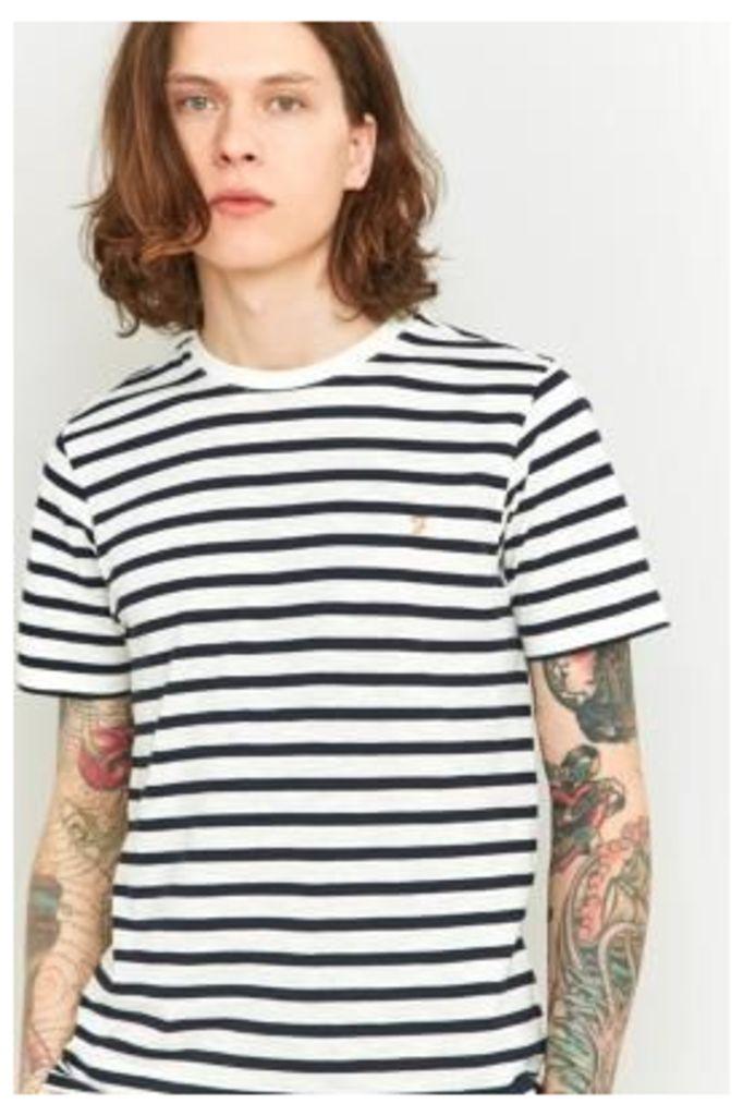 Farah Lennox Navy Striped Short Sleeve T-shirt, NAVY
