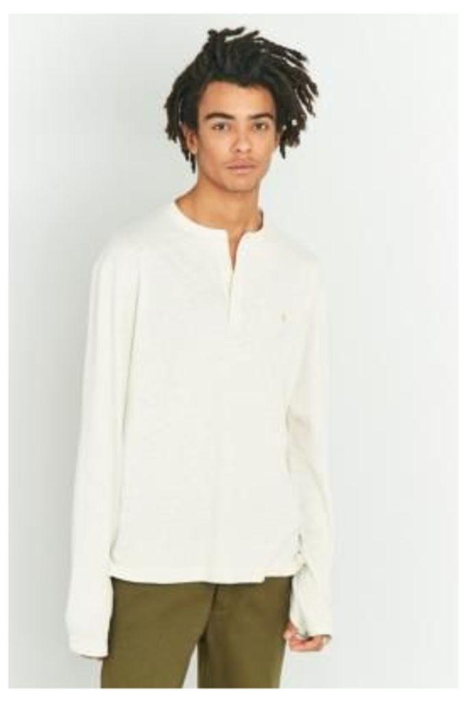 Farah Weddell Chalk Long Sleeve Shirt, IVORY