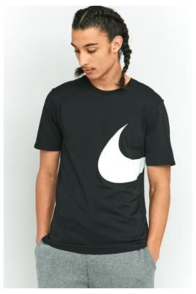 Nike Sportswear Hybrid Swoosh T-shirt, BLACK
