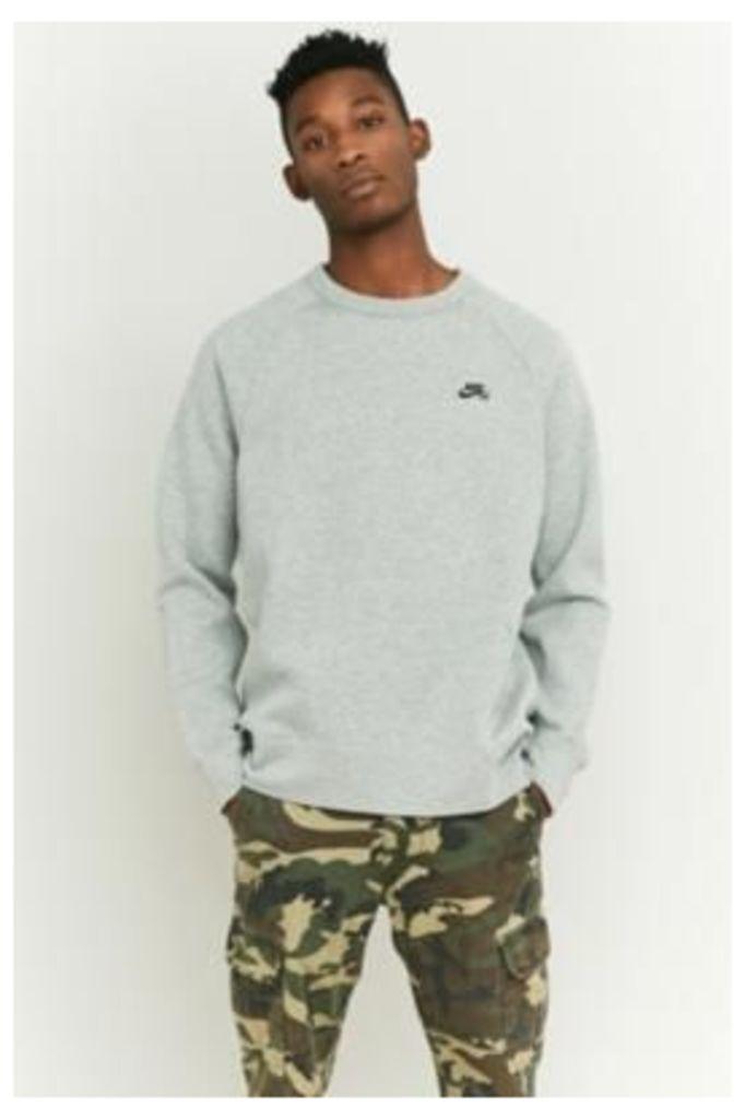 Nike SB Grey Icon Fleece Sweatshirt, GREY