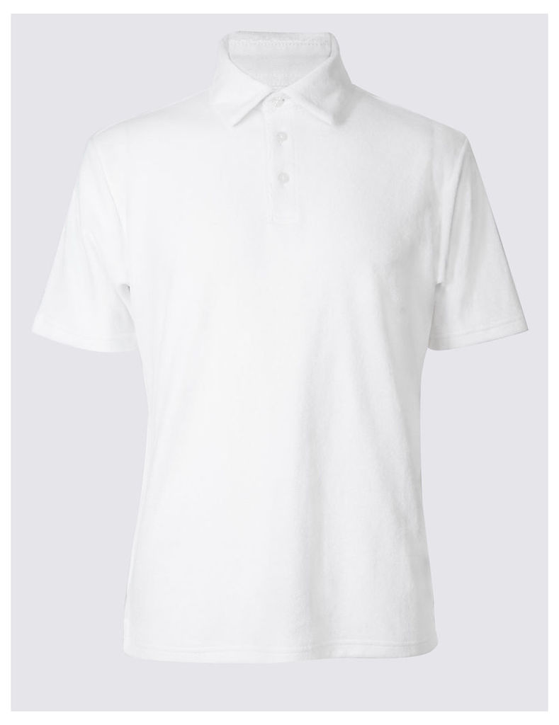 M&S Collection Cotton Rich Polo Shirt