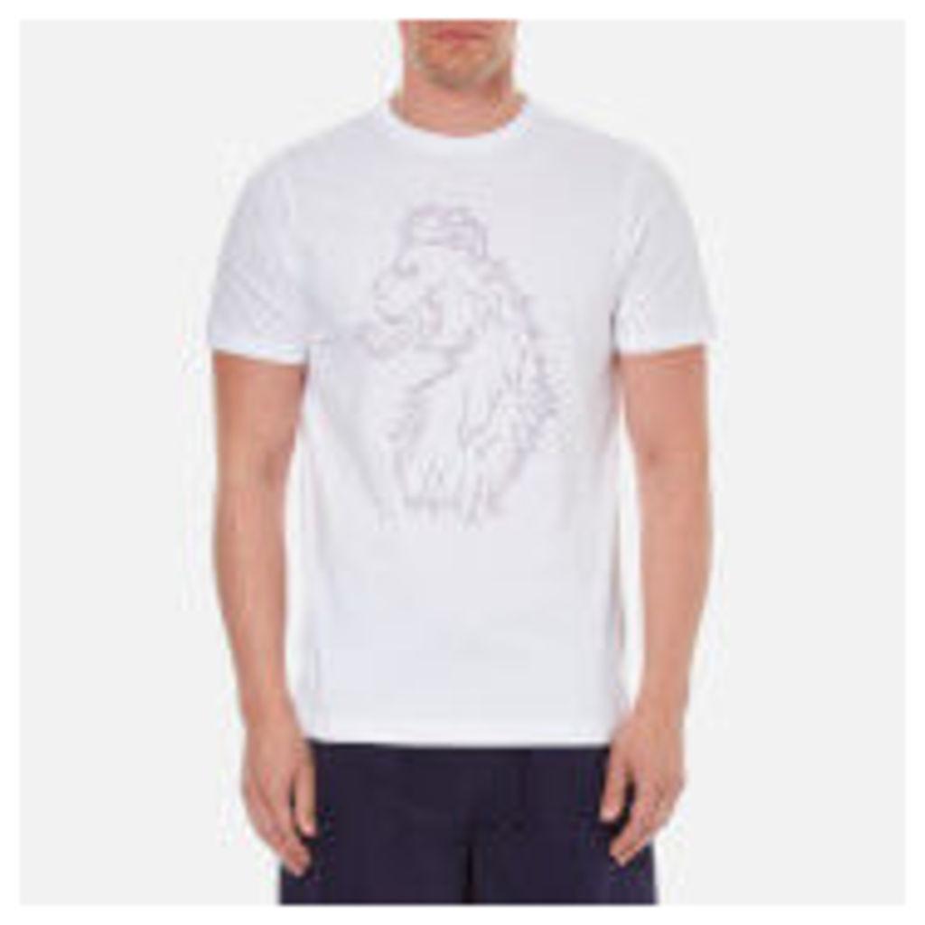 Luke 1977 Men's Pie Chart Printed Crew Neck T-Shirt - White - XXL