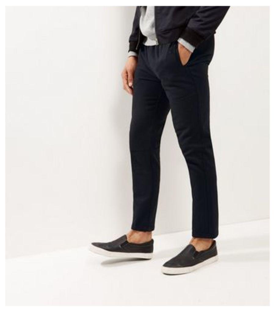 Black Straight Leg Smart Joggers