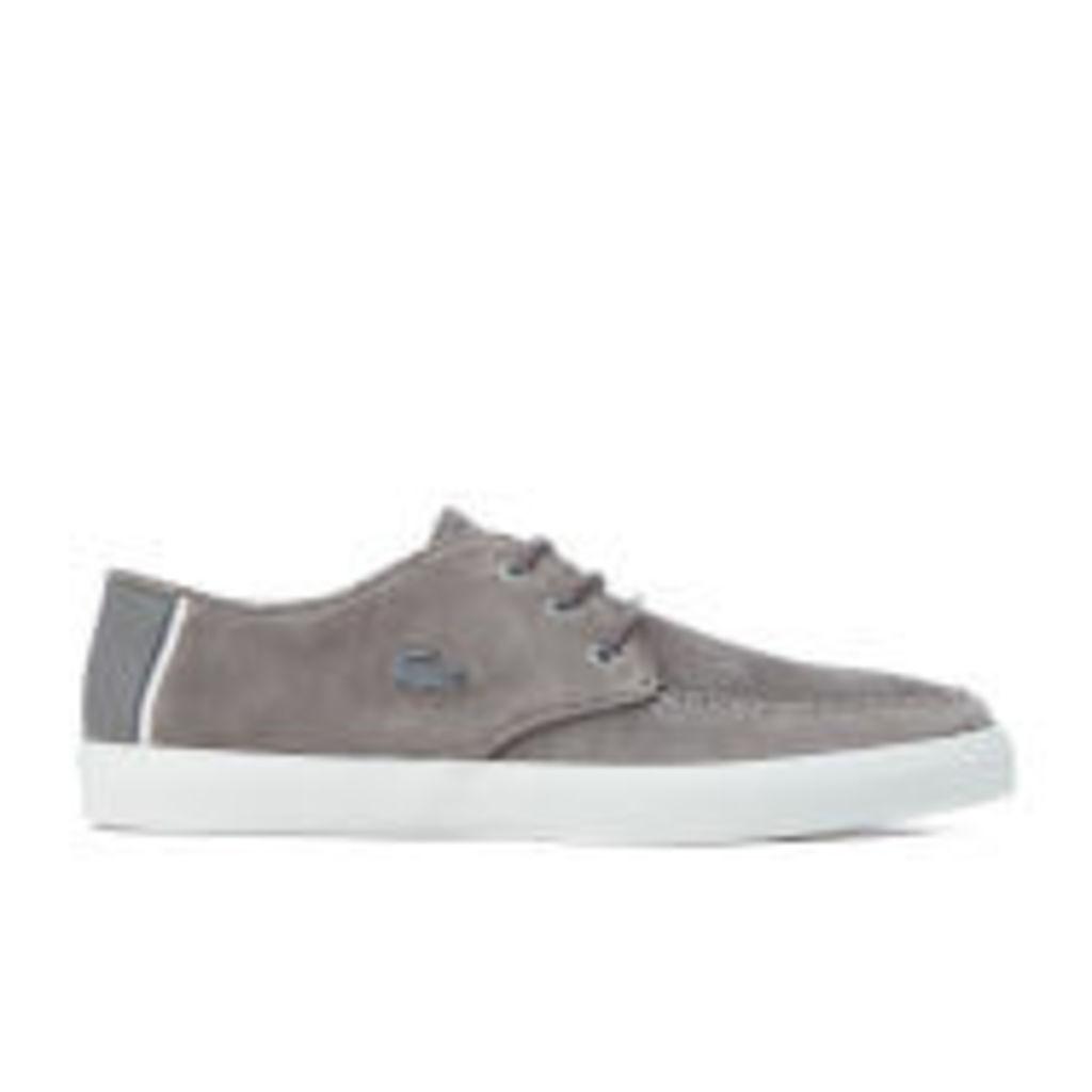 Lacoste Men's Sevrin 316 1 Suede Boat Shoes - Dark Grey - UK 10